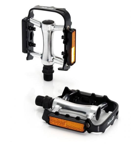 XLC MTB-Pedal Ultralight PD-M04 Alukäfig/-körper, schwarz/silber