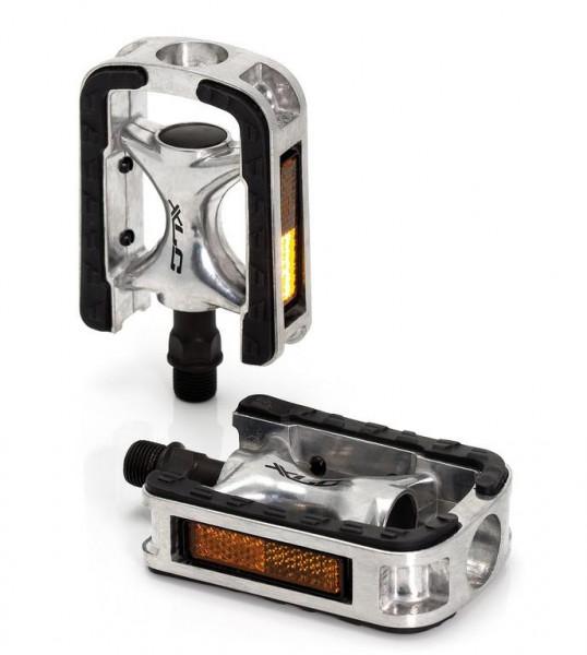 XLC City-/Comfort-Pedal PD-C01 Alu, Gummiauflage, silber/schwarz