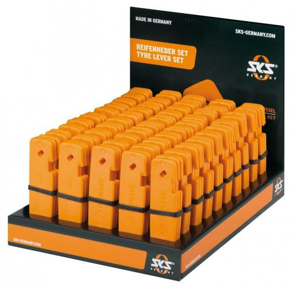 Reifenheber-Display SKS orange 3 Stück im Set
