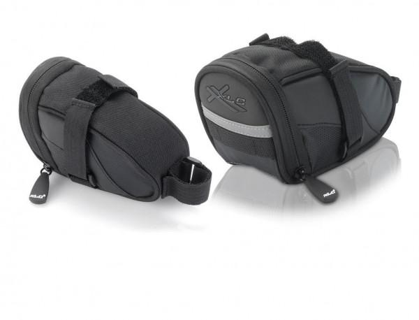 XLC Satteltasche  BA-S59 schwarz/anthrazit, 17,5x8,5x11cm 0,8 ltr